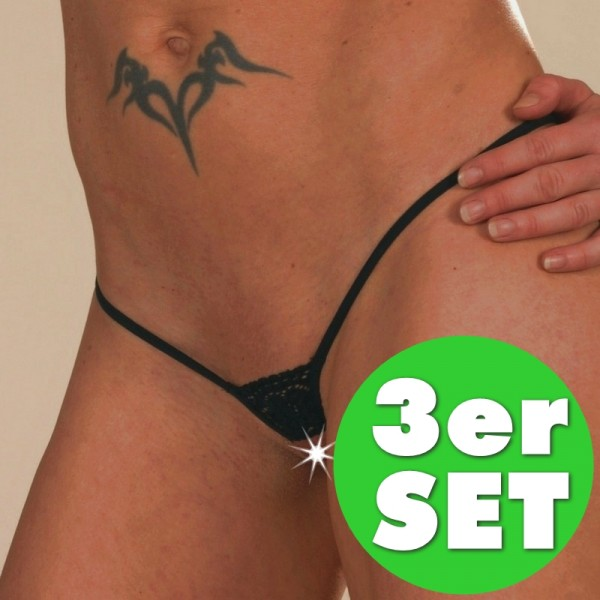 3 FÜR 2 open lace String